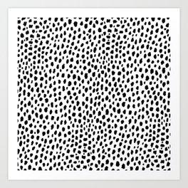 Dalmatian Spots (black/white) Art Print