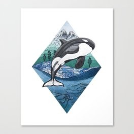 Hyshqa - Souther Resident Killer Whale Canvas Print