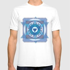 pattern Mens Fitted Tee MEDIUM White
