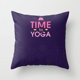 Time to Yoga Throw Pillow