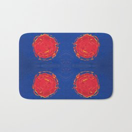 Red dots & yellow square Bath Mat