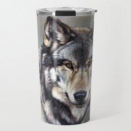 Timber Wolf by Alan M Hunt Travel Mug