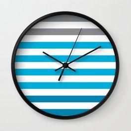 Stripes Gradient - Blue Wall Clock