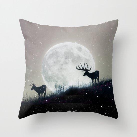 blue moon rising Throw Pillow