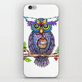 Peace Owl by DeeDee Draz iPhone Skin