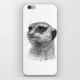 Meerkat-portrait G035 iPhone Skin