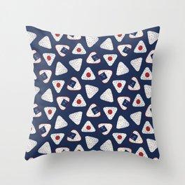 Japanese Rice Ball / Onigiri (おにぎり) Throw Pillow