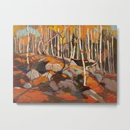 Tom Thomson The Birch Grove Autumn Canadian Landscape Artist Metal Print