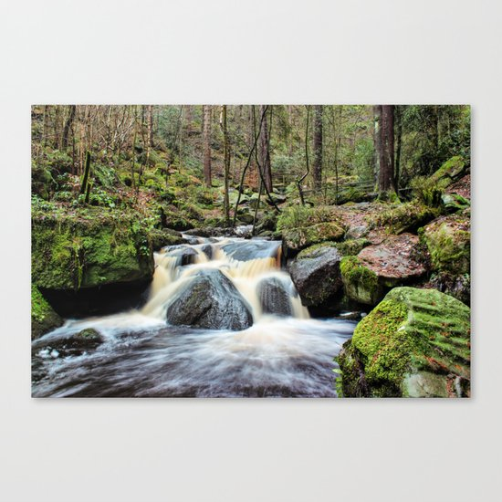 Wyming Brook Cascades Canvas Print