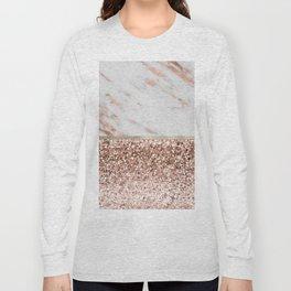Warm chromatic - rose gold marble Long Sleeve T-shirt