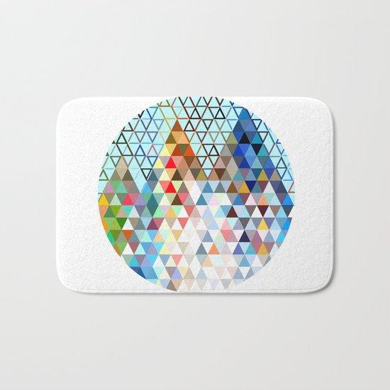 geometry rocks Bath Mat