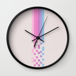 Classic 80s Pop Culture Retro Stripes Pixel Drops - Asakichi Wall Clock