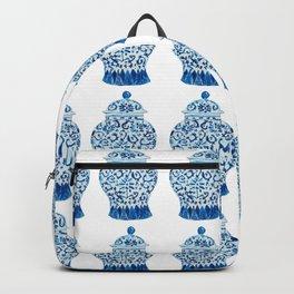 Blue and White Ginger Jars  Backpack