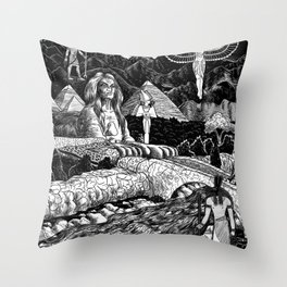 Dreaming Of Egypt Throw Pillow