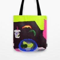 breakfast Tote Bags featuring Breakfast by Robert Morris