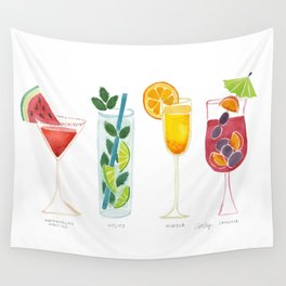 Summer Cocktail Trio Wall Tapestry