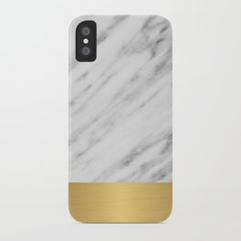 Carrara Italian Marble Holiday Gold Edition iPhone Case