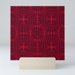 ELEGANT DARK RED GRAPHIC DESIGN Mini Art Print