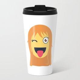 Nami Emoji Design Travel Mug