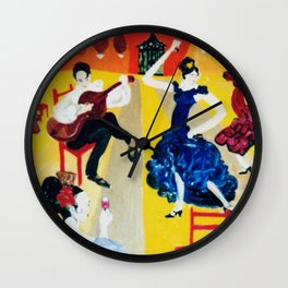 A Spanish Afternoon                                 by Kay Lipton Wall Clock