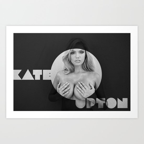 The Beautiful Kate Upton Art Print