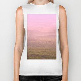 Pink Landscape - #society6 #buyart Biker Tank