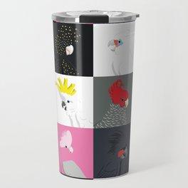 Australian cockatoos tile pattern Travel Mug