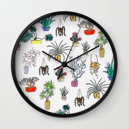Houseplants Wall Clock