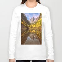 mountains Long Sleeve T-shirts featuring mountains. Mirror Lake by 2sweet4words Designs