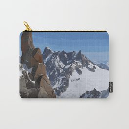 Blue Sky White Snow Red Rocks - The Alps Carry-All Pouch