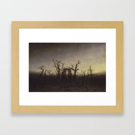 Abbey among Oak Trees Framed Art Print