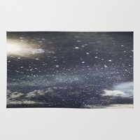 starry night Area & Throw Rugs featuring Starry Night  by Jane Lacey Smith