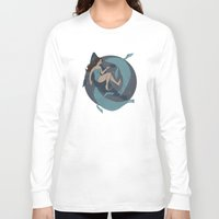 nautical Long Sleeve T-shirts featuring nautical by Louise Hubbard