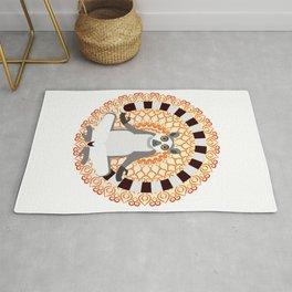 Lemur yoga Rug