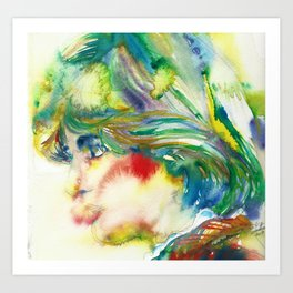 DIANA - PRINCESS OF WALES - watercolor portrait.5 Art Print