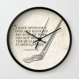 Famous Last words: Leonardo Da Vinci Wall Clock