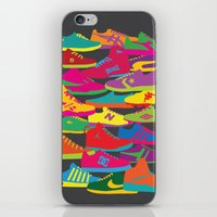 sneakers iPhone & iPod Skins featuring Sneakers by Glen Gould