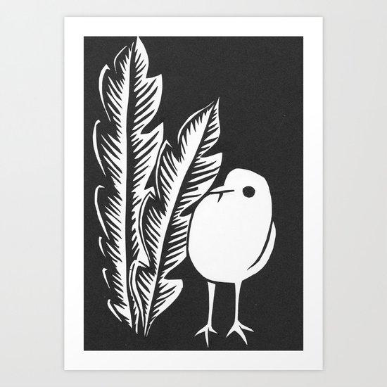 Graphic Bird Art Print