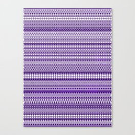 Tribality Purple Texture Canvas Print