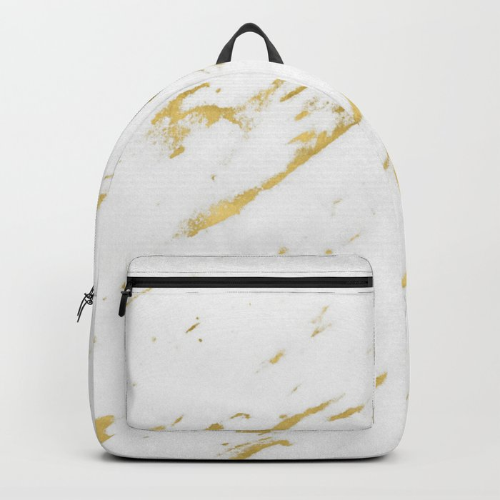 Marble - Yellow Gold Marble Design Backpack