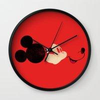mickey Wall Clocks featuring Deconstructing Mickey by ErDavid