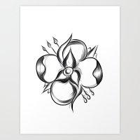 la dispute Art Prints featuring La Dispute Flower by LillianVH