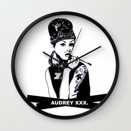 Audrey Hepburn. Rebel: Chola. Wall Clock