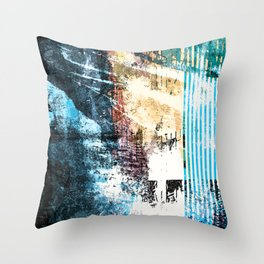 Worn Past, New Look Throw Pillow