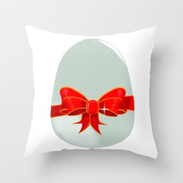 Egg and Ribbon Throw Pillow