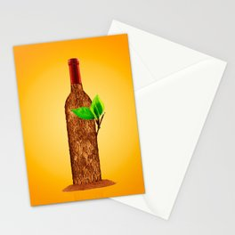 Eco-friendly Wine Illustration Stationery Cards