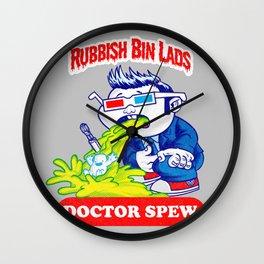 Rubbish Bin Lads: Doctor Spew Wall Clock