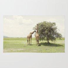 giraffes::rwanda Rug