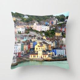 Colorful Cobh Ireland Throw Pillow