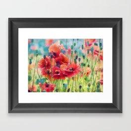 Poppy Parade Framed Art Print